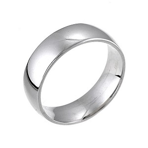 18ct White Gold Extrs Heavy Weight 6mm Wedding Ring
