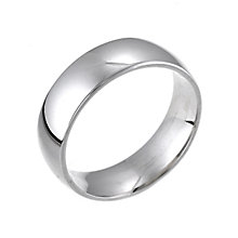 18ct White Gold Extrs Heavy Weight 6mm Wedding Ring - Product number 5104661