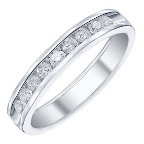 9ct White Gold 35pt Diamond Band - Product number 5107911