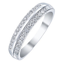 18ct White Gold 25pt Two Row Band - Product number 5108330