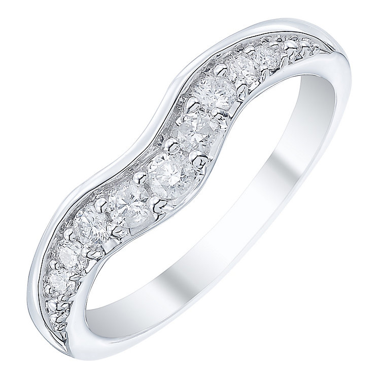 18ct White Gold 0.25ct Shaped Band - Product number 5108632