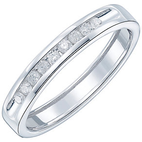 Platinum 15pt Diamond Band - Product number 5109086