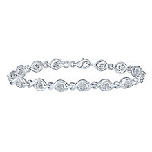 Sterling Silver 1/5 Carat Illusion Set Diamond Bracelet - Product number 5109574