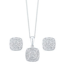 9ct White Gold 0.17ct Diamond Jewellery Set - Product number 5109604