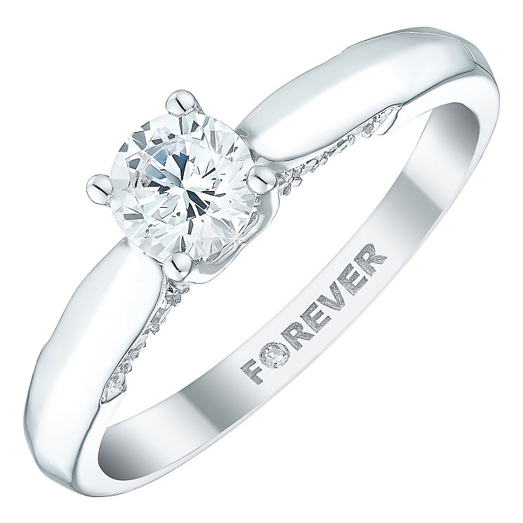 18ct White Gold 1/2 Carat Forever Diamond Ring - Product number 5109760