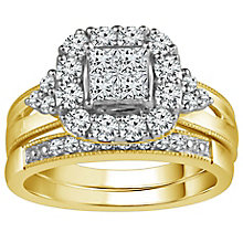 9ct Gold 1 Carat Diamond Perfect Fit Bridal Set - Product number 5110963
