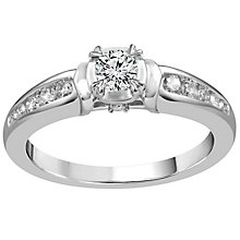 9ct White Gold 2/5 Carat Diamond Solitaire Ring - Product number 5111501