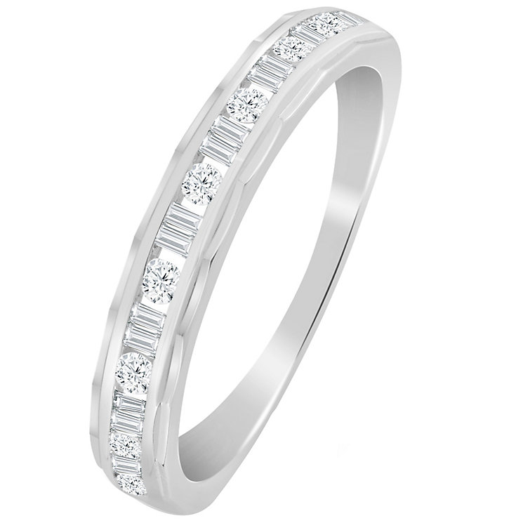 9ct White Gold 1/4 Carat Diamond Eternity Ring - Product number 5112176