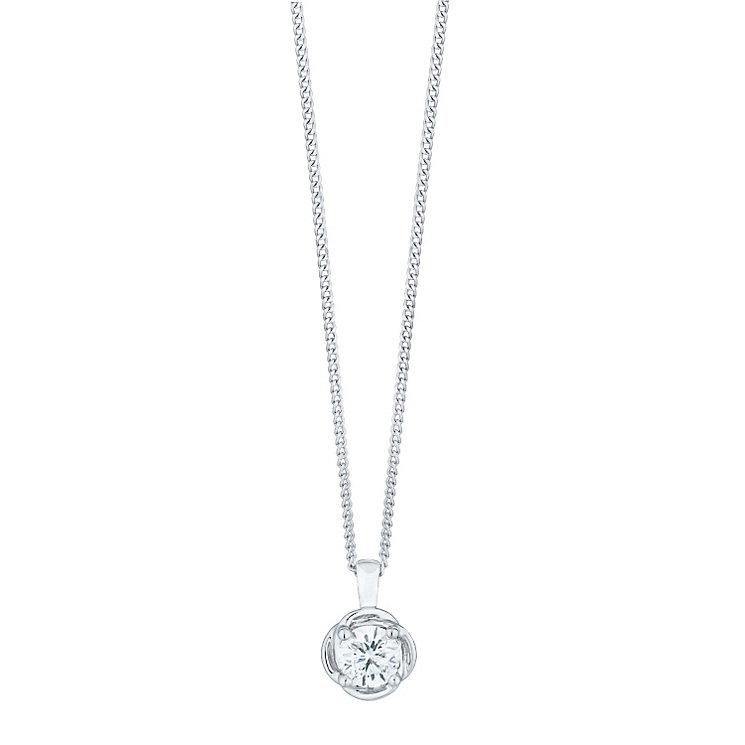 Leo Diamond Limited Edition Platinum 0.50ct Diamond Pendant - Product number 5113113