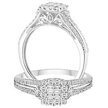 9ct White Gold 2/5ct Diamond Princessa Ring - Product number 5115256