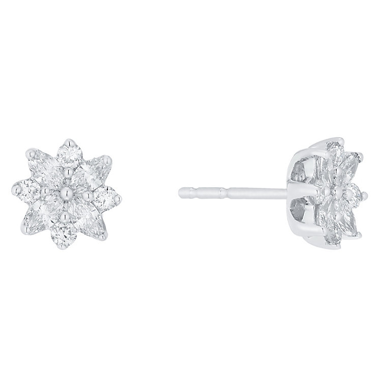 18ct White Gold 0.50ct I1 Certificated Diamond Earrings - Product number 5117437