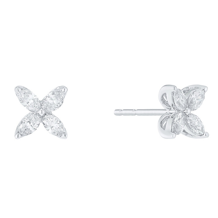 18ct White Gold 0.40ct I1 Certificated Diamond Earrings - Product number 5117445