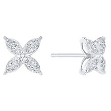 9ct White Gold 0.15ct I2 Diamond  Earrings - Product number 5117453