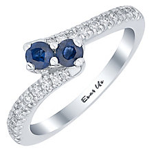 Ever Us 14ct White Gold Sapphire & 0.20ct I2 Diamond Ring - Product number 5117488