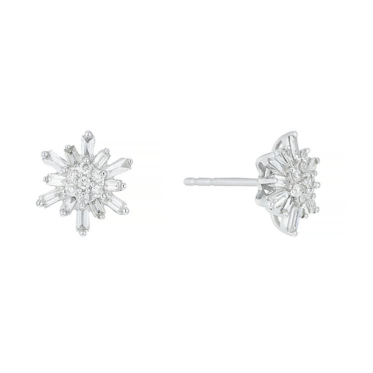 9ct White Gold 0.40ct I2 Diamond Earrings - Product number 5117704