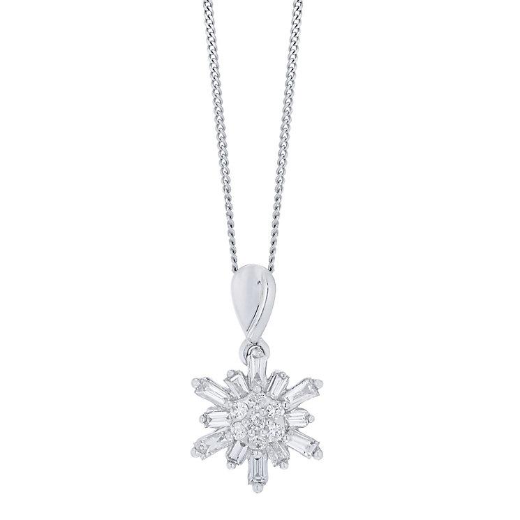 9ct White Gold 0.25ct I2 Diamond Pendant - Product number 5117887