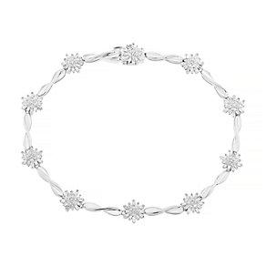 9ct White Gold 1ct I2 Diamond Bracelet - Product number 5117925
