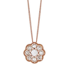 18ct Rose Gold 0.50ct I2 Rose Cut Diamond Pendant - Product number 5117992
