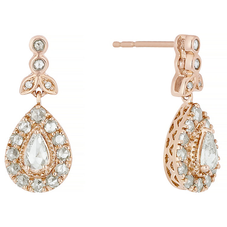 18ct Rose Gold 0.75ct I2 Diamond Earrings - Product number 5118042