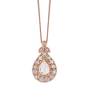 18ct Rose Gold 0.50ct I2 Diamond Pendant - Product number 5118050