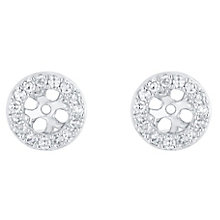 9ct White Gold 0.20ct Classic Round Diamond Earring Jacket - Product number 5118069