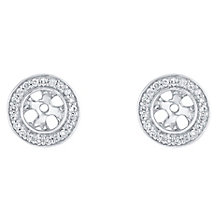 9ct White Gold 0.12ct Pave Round Diamond Earring Jacket - Product number 5118093