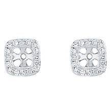 9ct White Gold 0.20ct Classic Cushion Diamond Earring Jacket - Product number 5118107