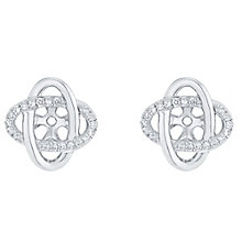 9ct White Gold Pave Knot Earring Jacket - Product number 5118123