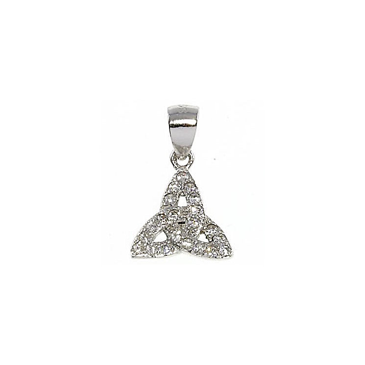 Cailin Sterling Silver Cubic Zirconia Trinity Knot Pendant - Product number 5120055