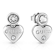 Guess Rhodium-Plated Little Heart Stud Earrings - Product number 5120705