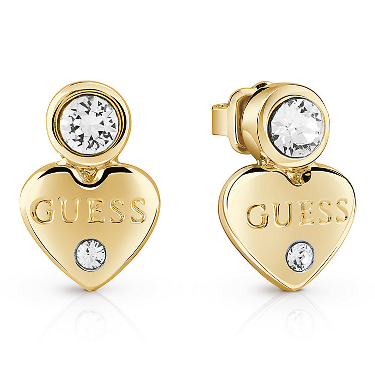Guess Gold-Plated Little Heart Stud Earrings - Product number 5120713