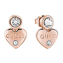 Guess Rose Gold-Plated Little Heart Stud Earrings - Product number 5120721