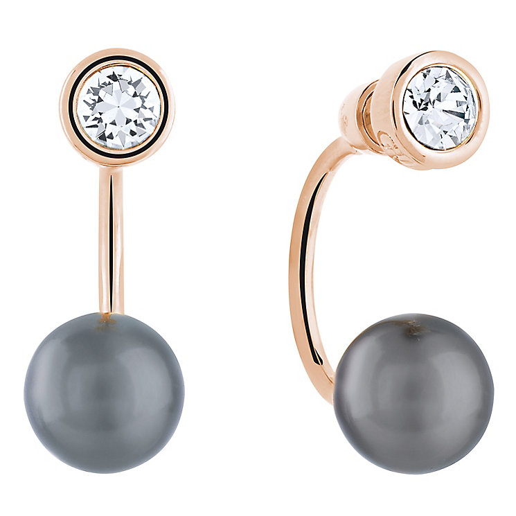 Guess Rose Gold-Plated Black Cultured Pearl Ear Jackets - Product number 5120861