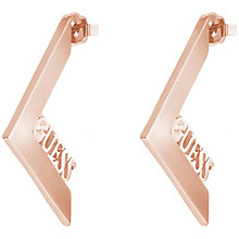 Guess Rose Gold-Plated V-Shaped Stud Earrings - Product number 5120934