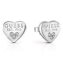 Guess Rhodium-Plated Crystal Set 