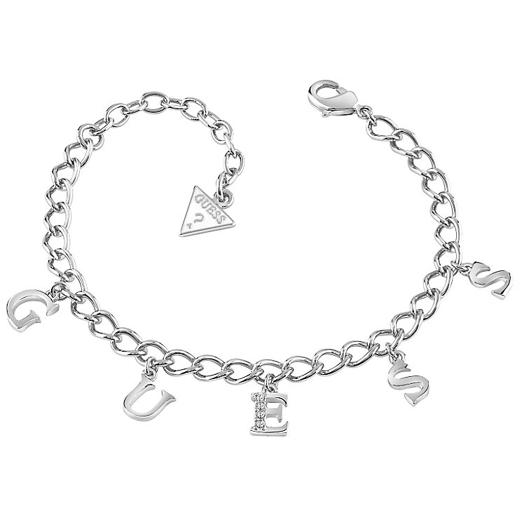 Guess Rhodium-Plated Charm Bracelet - Product number 5120993