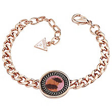 Guess Rose Gold-Plated Leopard Print Coin Bracelet - Product number 5121035