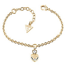 Guess Gold-Plated Little Heart Charm Bracelet - Product number 5121043
