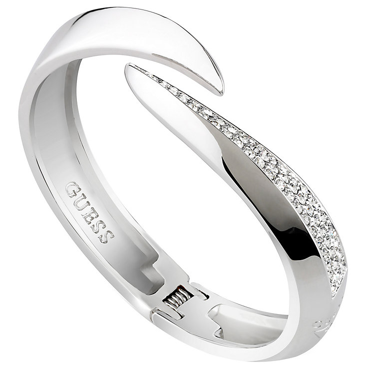 Guess Rhodium-Plated Stone Set Horn Bangle - Product number 5121108