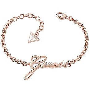 Guess Rose Gold-Plated Logo Bracelet - Product number 5121159