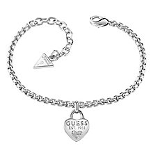 Guess 1981 Rhodium-Plated Heart Bracelet - Product number 5121191