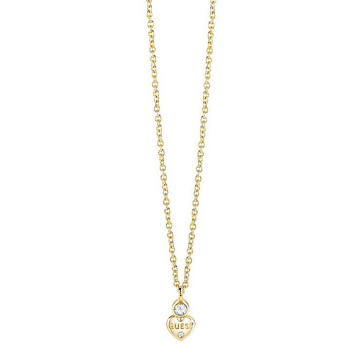 "Guess Gold-Plated Little Heart Pendant 16-18"" - Product number 5121248"