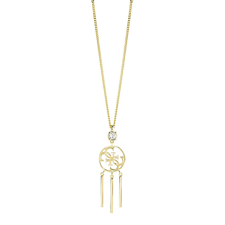 "Guess Quattro G Gold-Plated Tasselled Pendant 16-18"" - Product number 5121450"