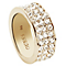 Guess Gold-Plated 3 Row Pave Stone Set Ring Size 56 - Product number 5121558