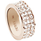Guess Rose Gold-Plated 3 Row Pave Stone Set Ring Size 56 - Product number 5121574