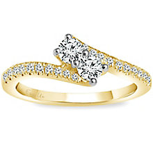 Ever Us 14ct Gold 1/2 Carat Diamond 2 Stone Ring - Product number 5123917