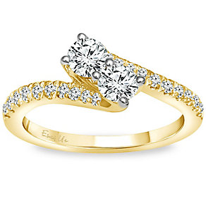 Ever Us 14ct Gold 3/4 Carat Diamond 2 Stone Ring - Product number 5124182
