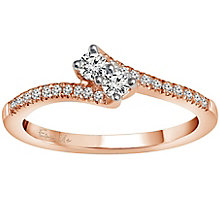 Ever Us 14ct Rose Gold 1/4 Carat Diamond 2 Stone Ring - Product number 5124581