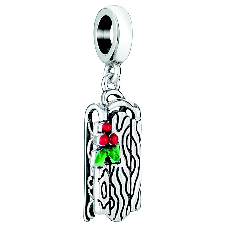Chamilia Sterling Silver Red & Green Enamel Sled Charm Bead - Product number 5126894
