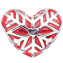 Chamilia Sterling Silver & Red Enamel Warm Heart Bead - Product number 5126940